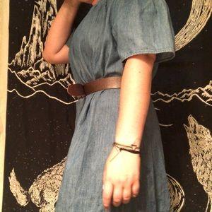 Dresses & Skirts - Off the shoulder jean dress